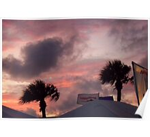 Windy Sunset Poster