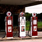 Texaco Gas Pumps by Charles Buchanan