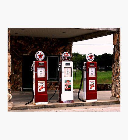 Texaco Gas Pumps Photographic Print