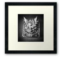 Demon face Framed Print