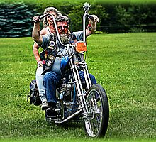 Friends ~ Triumph Chopper: Cascades 2009 by Luuezz
