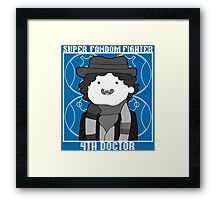 Super Fandom Fighter - 4th Doctor Framed Print