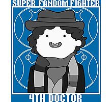 Super Fandom Fighter - 4th Doctor Photographic Print