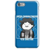 Super Fandom Fighter - 4th Doctor iPhone Case/Skin