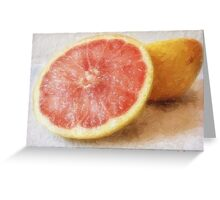 Grapefruit 1 Greeting Card