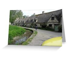 very old national trust houses in bibury Greeting Card