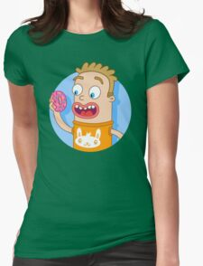 Donut and Bunny Womens Fitted T-Shirt