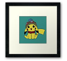 Pikachu Teemo (Teechu) Framed Print