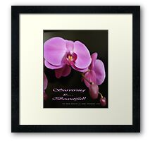 Pink is ... Surviving!  Original Photography All Rights Reserved Lei Hedger 2009 Framed Print