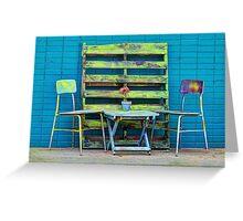 Redneck Patio Furniture Greeting Card
