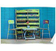 Redneck Patio Furniture Poster
