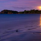 Bland Bay moonrise, Northland by Paul Mercer