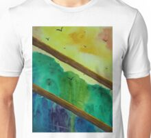 Forest view through fence Unisex T-Shirt