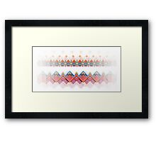 Retro Pixel Pattern Framed Print