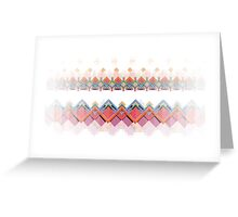 Retro Pixel Pattern Greeting Card