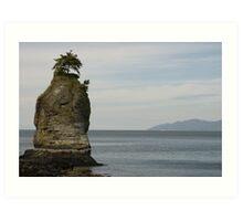 Sea Stack, Stanley Park, Vancouver, BC Art Print