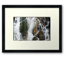 Cascate di Crosis Framed Print