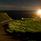 Cape Reinga lighthouse at night 3 by Paul Mercer