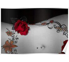 Flower Meets Skin Poster