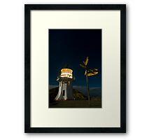 Cape Reinga lighthouse at night 7 Framed Print