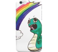 Cute snake with RAINBOW! iPhone Case/Skin