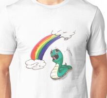 Cute snake with RAINBOW! Unisex T-Shirt