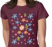 Flowers T-Shirt  Womens Fitted T-Shirt