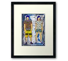 Disco children Framed Print