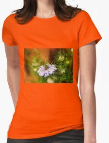 Blue Nigella Flower Womens Fitted T-Shirt