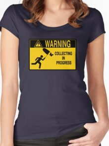 Collecting in progress Women's Fitted Scoop T-Shirt