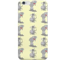 Elephant pattern funny mice iPhone Case/Skin