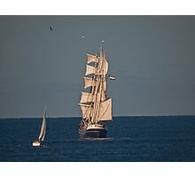 Sails in the Sunset. Photographic Print