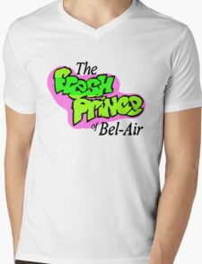Fresh Prince logo Mens V-Neck T-Shirt