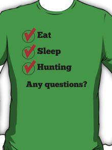 Eat Sleep Hunting Checklist T-Shirt