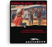 Greyhound Bus Lines Canvas Print