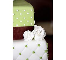 green and white cake Photographic Print