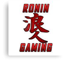 Ronin Gaming Logo (tall) Canvas Print