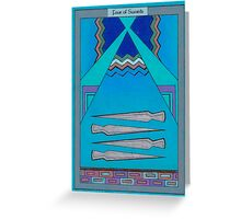 Four of Swords Greeting Card