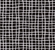 Painted Grid Print | Black by weirdoodle