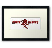 Ronin Gaming Logo (long) Framed Print