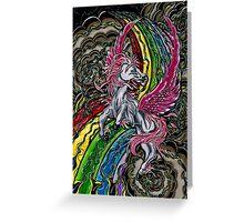 Zeus Pegasus  Greeting Card