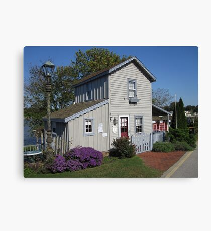 The Historic Old Wharf Cottage Canvas Print