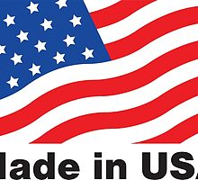 Made in USA flag american hero patriot factory business work by Dopealicious