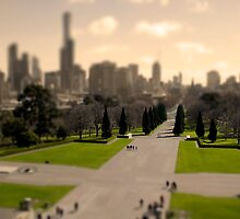 Melbourne's miniature skyline by Marcos Moraes