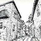 Cortona Side Street Via S.Nicolo'  by Randy Sprout