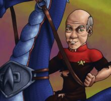 Jean-Luc Picard and the Dragon Sticker