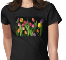 Colorful Tulips Womens Fitted T-Shirt