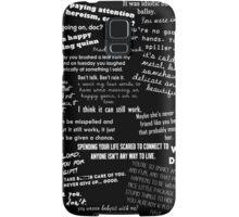 Toby/Happy Quotes Samsung Galaxy Case/Skin
