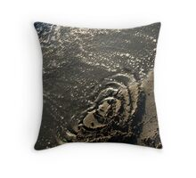 Heart Washing Away Throw Pillow