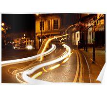 Night lights of Cheltenham Poster